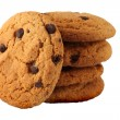 Stock Photo: Cookies with chocolate chips.