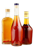 Alcohol in glass bottles. — Stock Photo