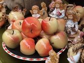 Ceramic apple — Stock fotografie