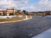 River Neris in Vilnius center — Stock Photo
