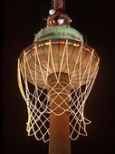 Eurobasket 2011 opening. Biggest basket in the world on TV tower. — Stock Photo