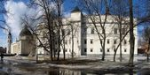 Rebuilding Royal Palace of Lithuania in Vilnius — Stock Photo