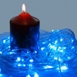 Blue LED and the candle — Stock Photo