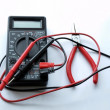 Pincers and multimeter — Stock Photo