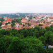 View to old Vilnius from Gediminas castle — Stock Photo