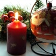 Candle in christmas time — Stock Photo #7335906
