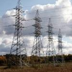 wieże energii elektrycznej — Zdjęcie stockowe