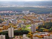 Vilnius city aerial view — Stockfoto