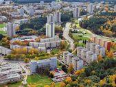 Vilnius city aerial view — Stock Photo