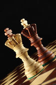 Two Kings on the chessboard. — Stock Photo