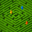 Royalty-Free Stock Immagine Vettoriale: Green maze with