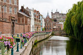 Historic romantic place in Ghent — Stock Photo