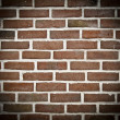 Spotlight on brick wall — Stock fotografie