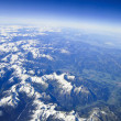 Aerial view on the  alps — Stock Photo