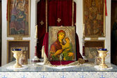 Chapel with painting from Blessed Virgin Mary with baby Jesus — Stock Photo