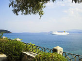 Seaside of Kerkyra, Corfu, Greece — Stock Photo