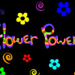 Flower power background — Stockvektor