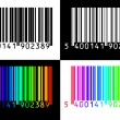 Collection of 4 barcodes — Stock Vector