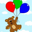 Bear with balloons — Stock Vector #7279899