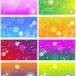 Royalty-Free Stock Vector Image: Colection of bright colored business cards; backgrounds