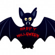 Stock Vector: Halloween bat