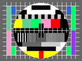 Farbe-test für das fernsehen, für die überprüfung der qualität — Stockvektor