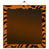 Tiger print frame to put your own photo or text in. — Stock Vector
