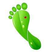 Ecologic footprint — Vector de stock