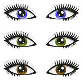 3 pair of eyes — Stock Vector