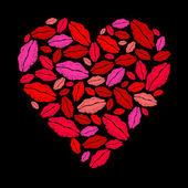 сердце помады — Cтоковый вектор