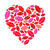 Lipstick heart — Stock Vector