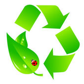 Green recycling logo — Vector de stock