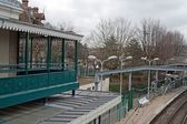 Starý styl vlakové nádraží — Stockfoto