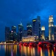 Singapore City Evening Skyline — Stock Photo