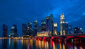 Singapore City Evening Skyline — Stock Photo