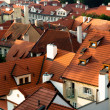 Roofs of old houses, Prague, Czech Republic - Stock Photo