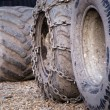 Dirty tractor wheels — Stock Photo