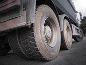 Truck wheels — Stock Photo
