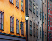Ancient buildings in Stockholm — Stockfoto