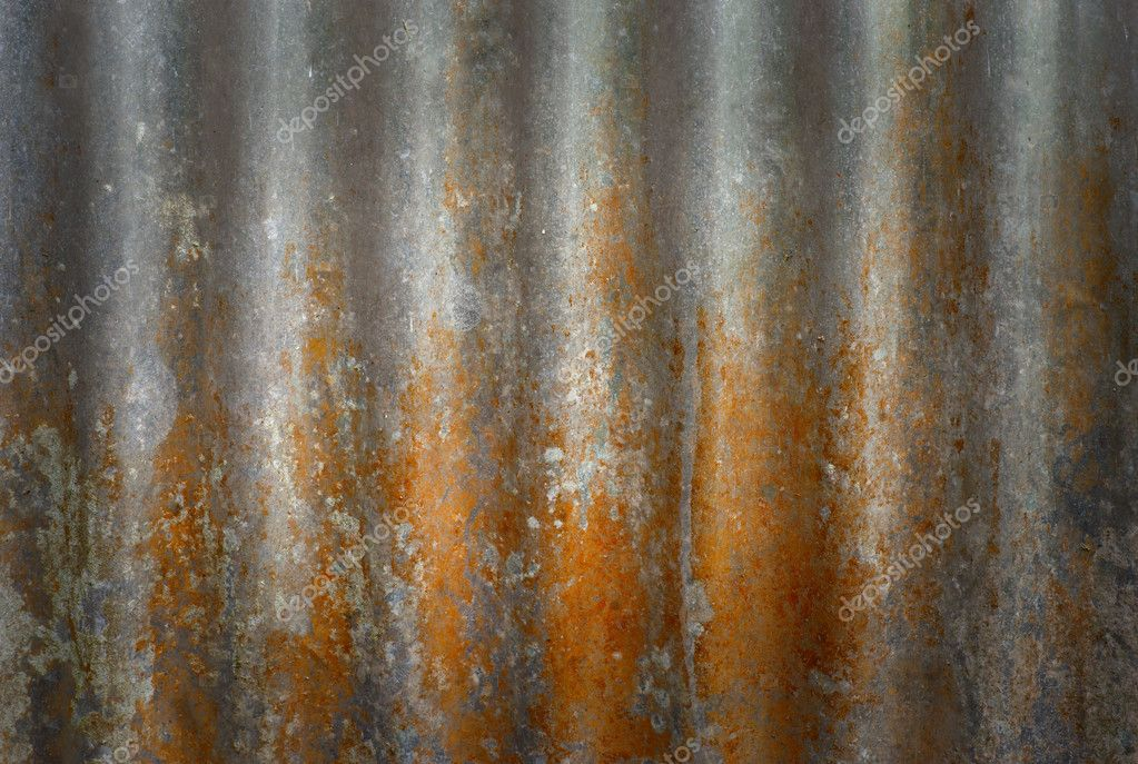 Background of rusty metal with repetitive patten — Stock Photo #7186426