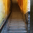 Stok fotoğraf: Narrow staircase in Stockholm