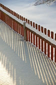Fence in snow — Foto de Stock