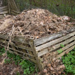 Stock Photo: Compost heap
