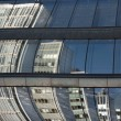 Stock Photo: Reflected office buildings