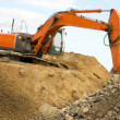 Orange earth mover — Stock Photo #7215618