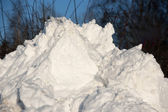 Heap of snow — Stock Photo