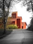 Red farmhouse — Stock Photo