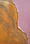 Vernice scrostata su metallo — Foto Stock