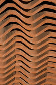Close-up of stack of old roof tiles — Stock Photo