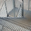 Stock Photo: Metal staircase background